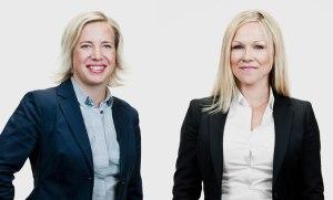 Foto på Katarina Ladenfors och Cecilia Torelm Tornberg